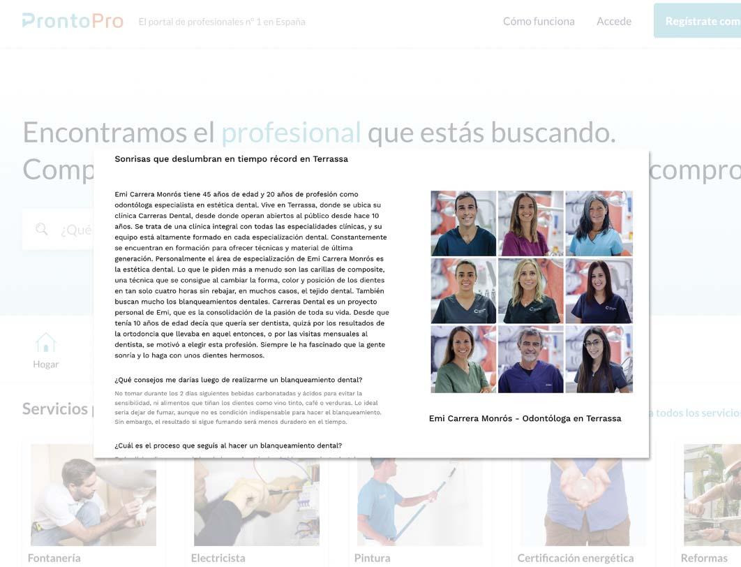 Entrevista ProntoPro - Blog Carreras Dental